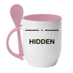 Кружка з керамічною ложкою Hidden
