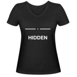 Жіноча футболка з V-подібним вирізом Hidden