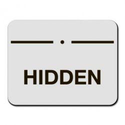 Килимок для миші Hidden