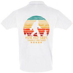 Мужская футболка поло Hide and seek world record