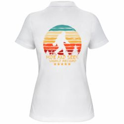 Женская футболка поло Hide and seek world record