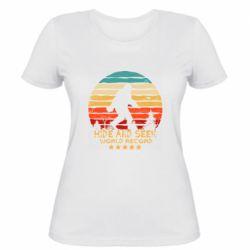 Женская футболка Hide and seek world record