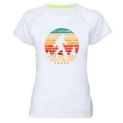 Женская спортивная футболка Hide and seek world record