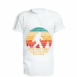 Удлиненная футболка Hide and seek world record