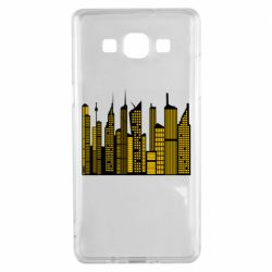 Чехол для Samsung A5 2015 High-rise buildings silhouette