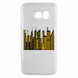 Чехол для Samsung S6 EDGE High-rise buildings silhouette