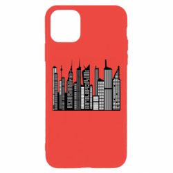 Чехол для iPhone 11 Pro Max High-rise buildings silhouette