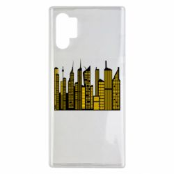 Чехол для Samsung Note 10 Plus High-rise buildings silhouette