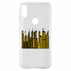 Чехол для Xiaomi Mi Play High-rise buildings silhouette