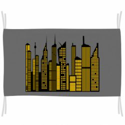 Флаг High-rise buildings silhouette