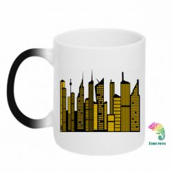 Кружка-хамелеон High-rise buildings silhouette