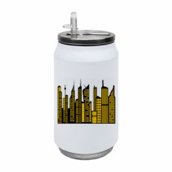 Термобанка 350ml High-rise buildings silhouette