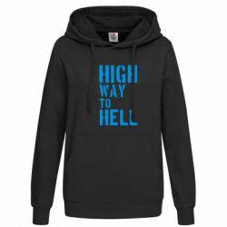 Женская толстовка High way to hell - FatLine