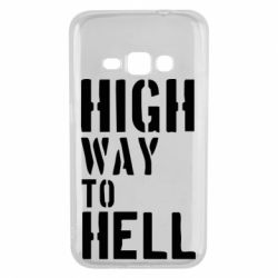 Чехол для Samsung J1 2016 High way to hell
