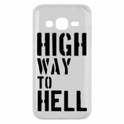 Чехол для Samsung J2 2015 High way to hell