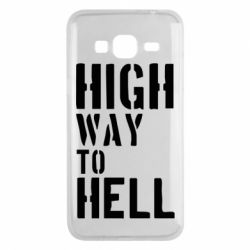 Чехол для Samsung J3 2016 High way to hell