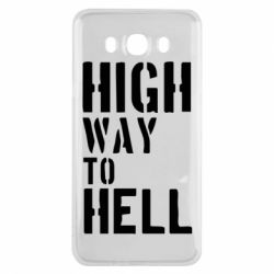 Чехол для Samsung J7 2016 High way to hell