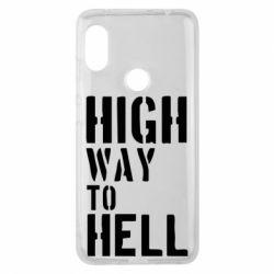 Чехол для Xiaomi Redmi Note 6 Pro High way to hell