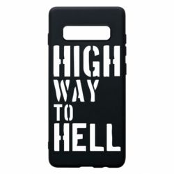 Чехол для Samsung S10+ High way to hell