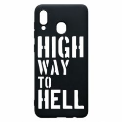 Чехол для Samsung A20 High way to hell