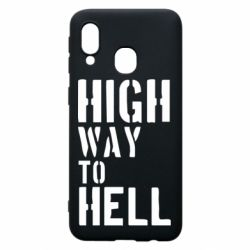 Чехол для Samsung A40 High way to hell