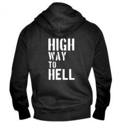 Мужская толстовка на молнии High way to hell - FatLine