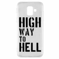 Чехол для Samsung A6 2018 High way to hell