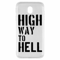 Чехол для Samsung J7 2017 High way to hell