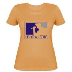 Женская футболка Hip-hop all stars