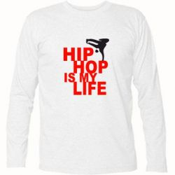 Футболка с длинным рукавом Hip-hop is my life - FatLine