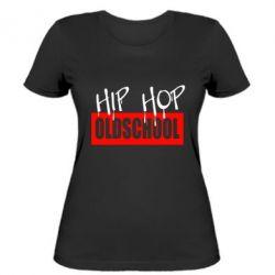 Женская футболка Hip Hop oldschool