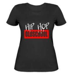 Жіноча футболка Hip Hop oldschool