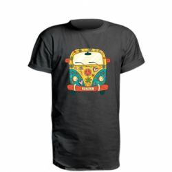 Подовжена футболка Hippie bus