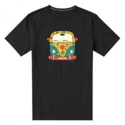 Чоловіча стрейчева футболка Hippie bus