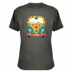Камуфляжна футболка Hippie bus