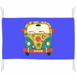 Прапор Hippie bus