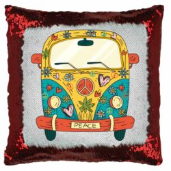Подушка-хамелеон Hippie bus