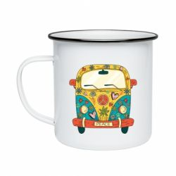Кружка емальована Hippie bus