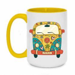 Кружка двоколірна 420ml Hippie bus