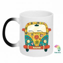 Кружка-хамелеон Hippie bus