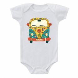 Дитячий бодік Hippie bus