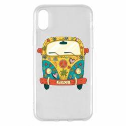 Чохол для iPhone X/Xs Hippie bus