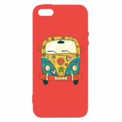Чохол для iphone 5/5S/SE Hippie bus