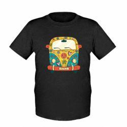 Дитяча футболка Hippie bus