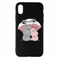 Чохол для iPhone X/Xs Hippos