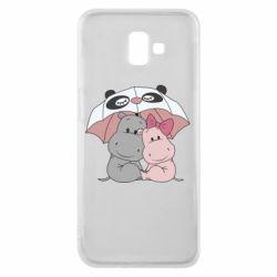 Чохол для Samsung J6 Plus 2018 Hippos