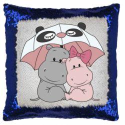 Подушка-хамелеон Hippos