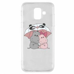 Чохол для Samsung A6 2018 Hippos