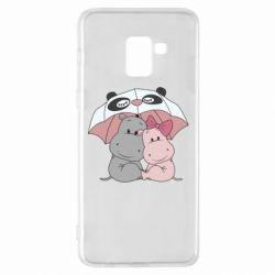 Чохол для Samsung A8+ 2018 Hippos