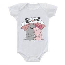 Дитячий бодік Hippos